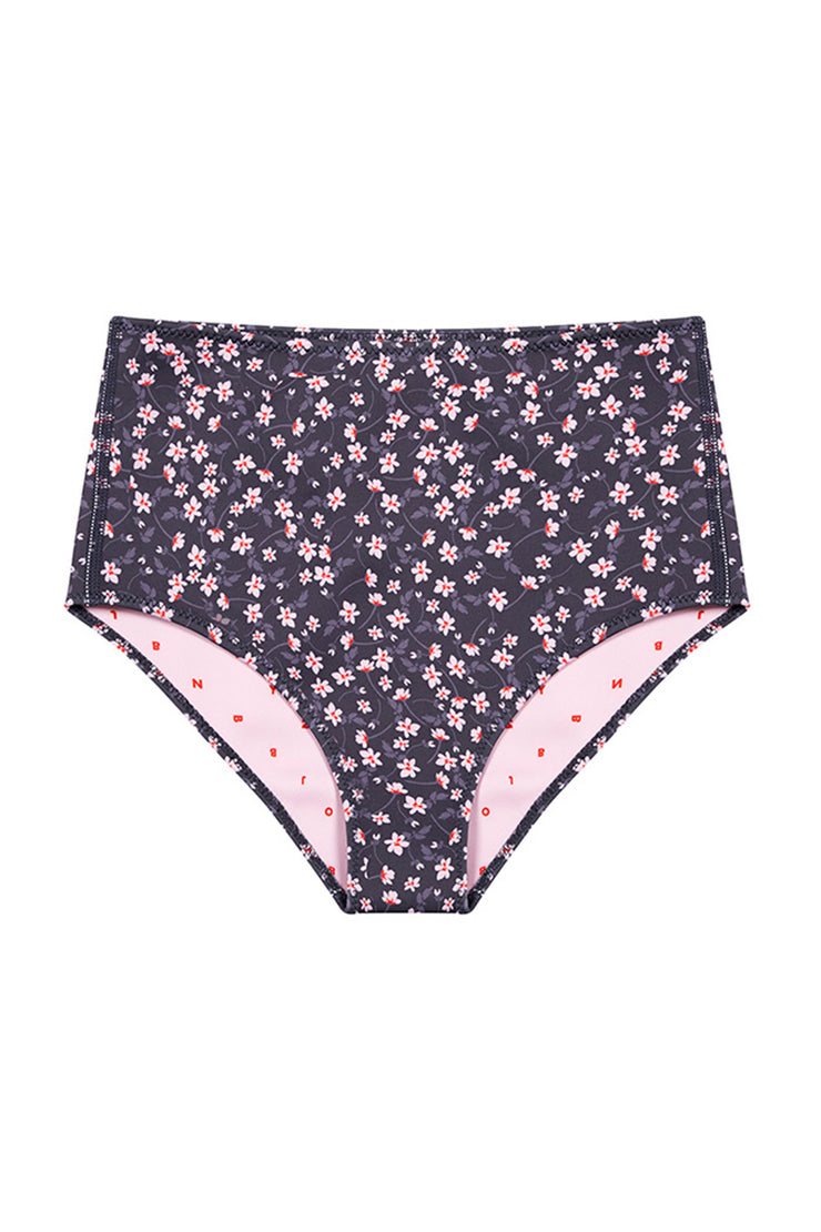 The Riley High Waisted Bottom - Wallpaper Floral
