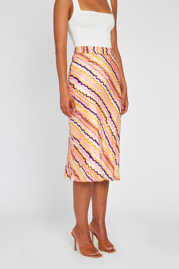 ELLE BIAS MIDI SKIRT