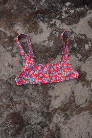 The Archie Sports Top - Chilli Blossom Floral