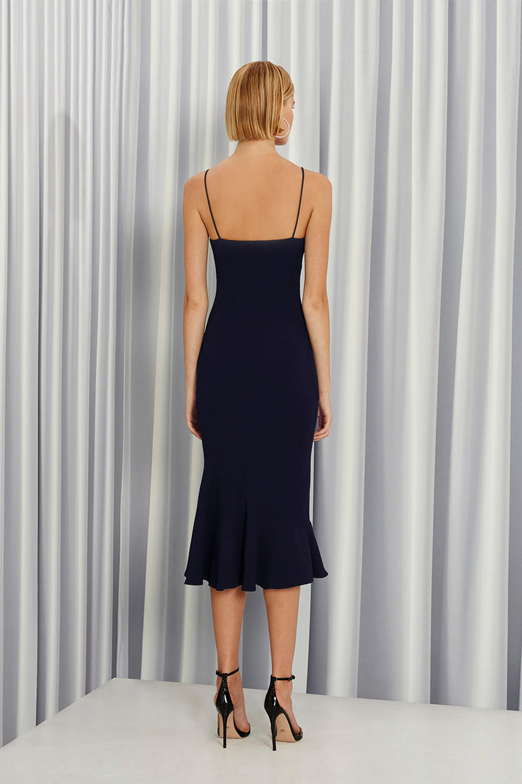 Shoe String Rising Frill Dress | Final Sale - Royal Navy