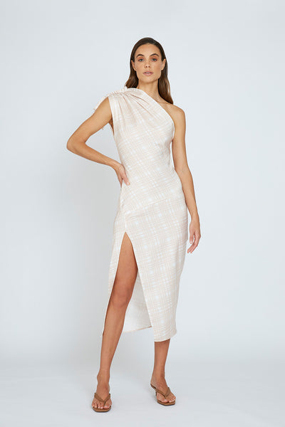 Sliced Out Asymmetric Dress
