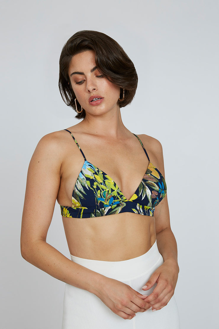 Johnny Bralette - Tropical Floral | Final Sale