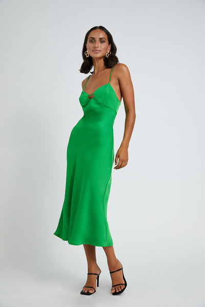 Isla Cut Out Bias Midi Dress