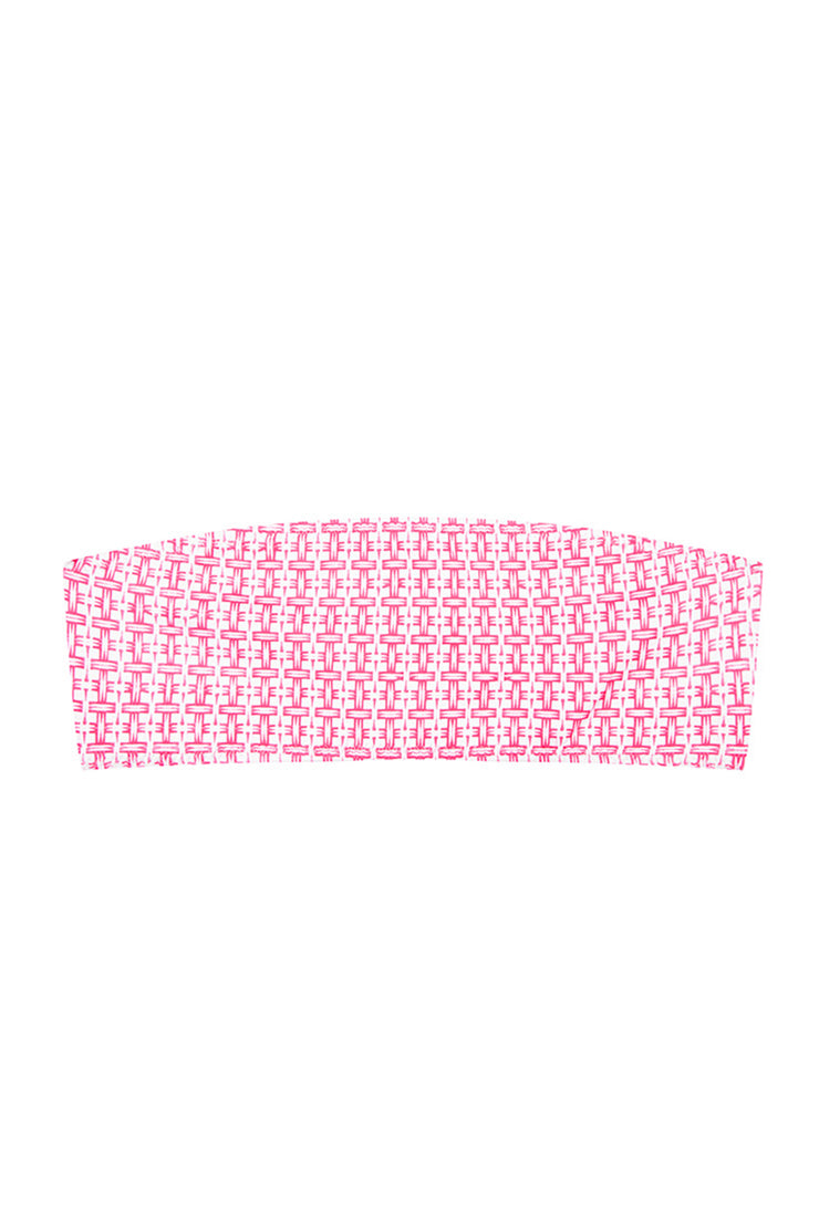 The Kenny Bandeau Top | Final Sale - Pink Raffia
