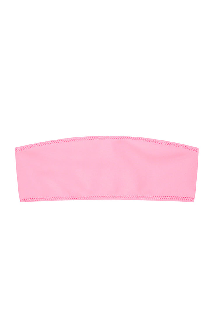 The Kenny Bandeau Top - Bright Pink