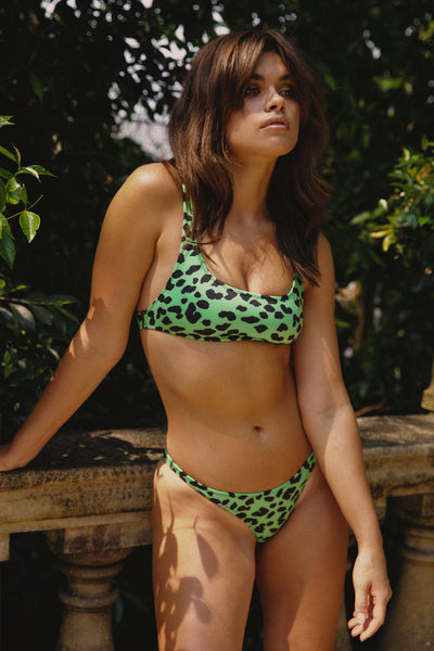 Bailey Skinny Bottom - Green Leopard