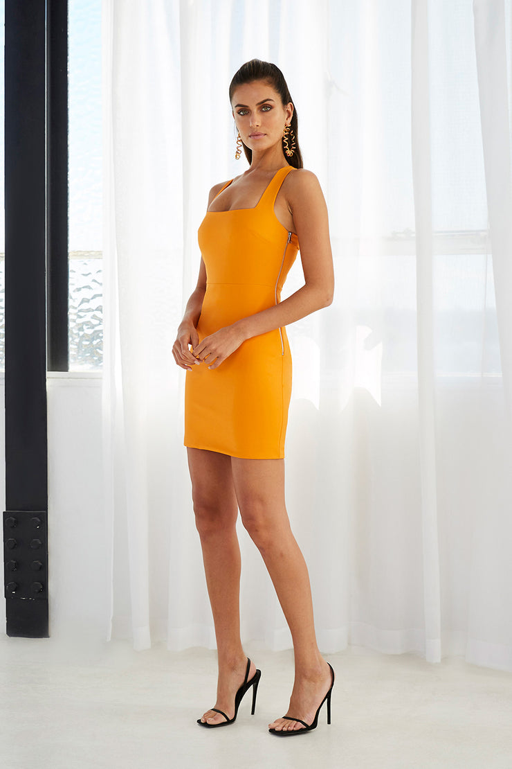 Twist Back Mini Dress