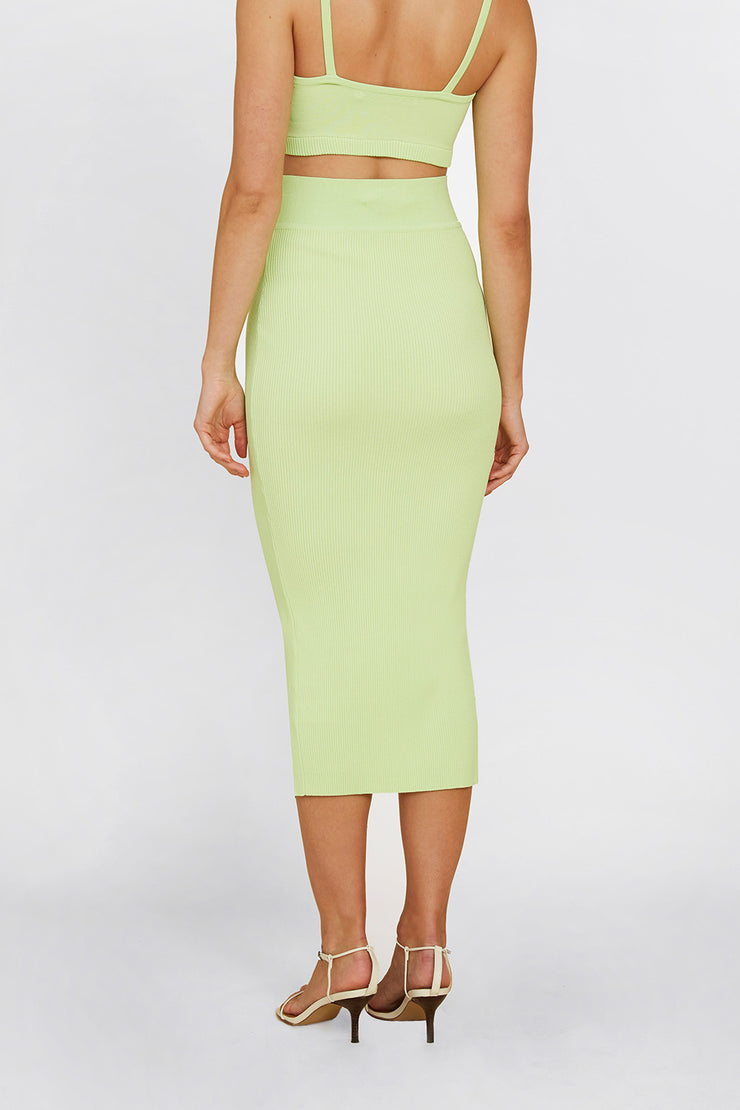 Alice Split Skirt - Lime