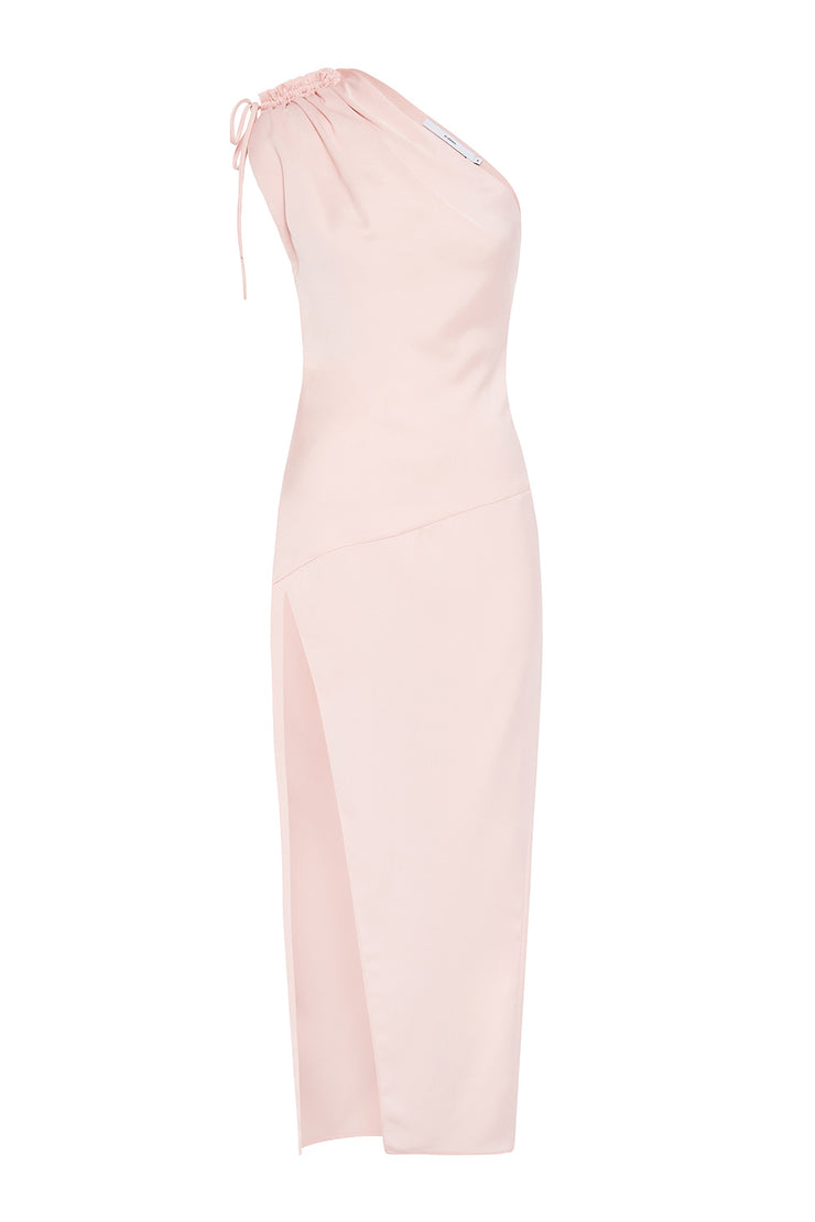 Sliced Out Asymmetric Dress - Soft Pink