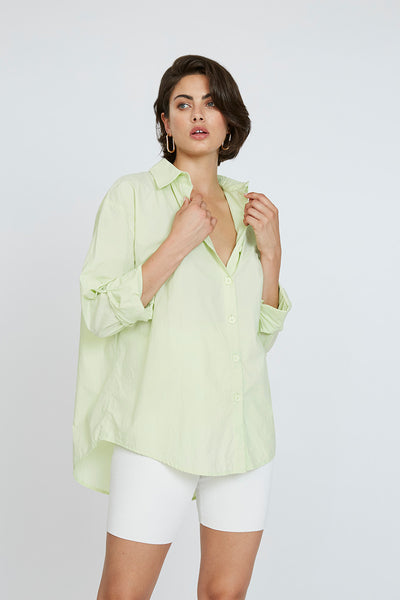 Liam Cotton Shirt - Mint