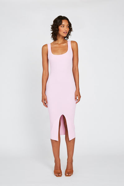 Alice Split Knit Dress - Pink