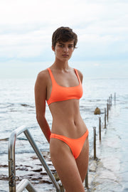 The Archie Sports Top | Final Sale - Neon Orange