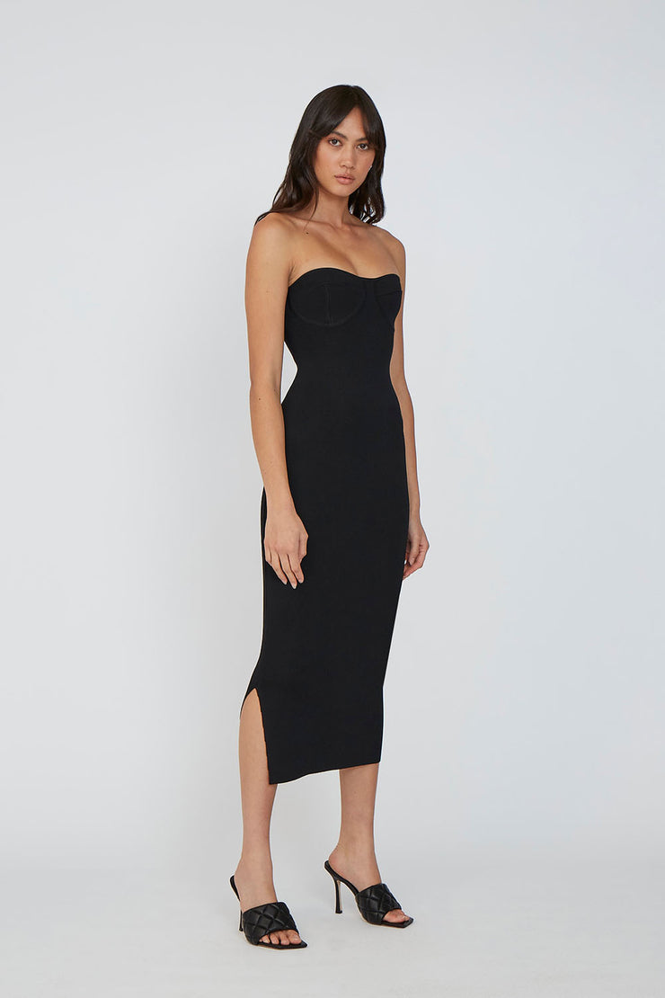 Penny Strapless Dress - Black