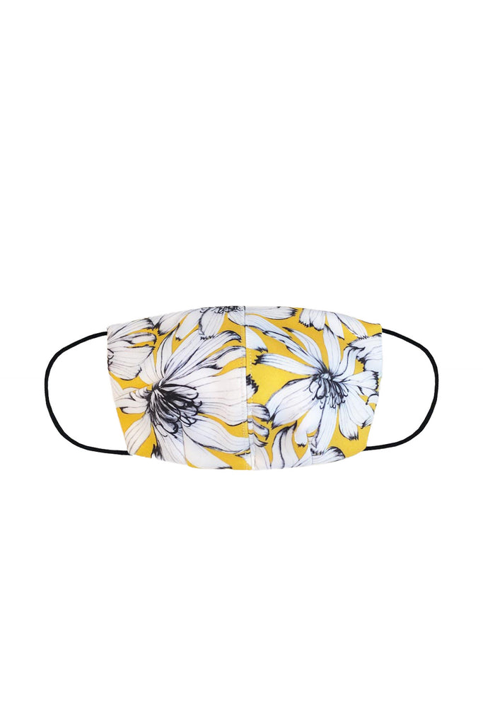 BYJNY MASK – Yellow White Floral