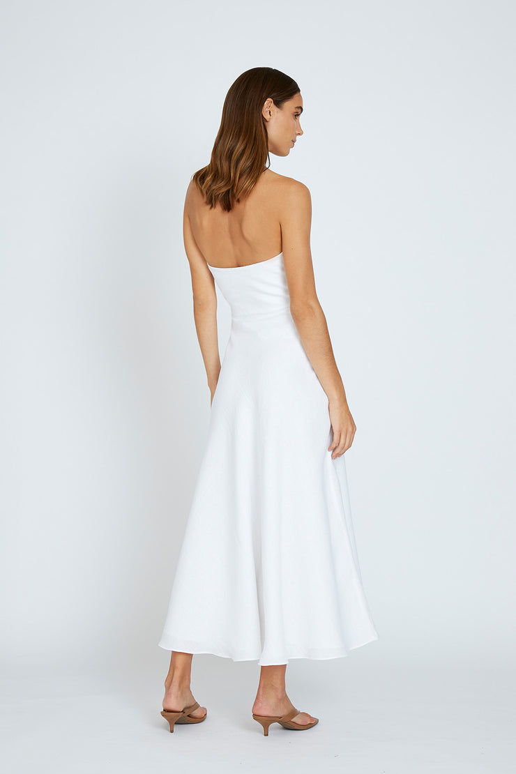 Billie Strapless Dress - White