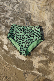 The Riley High Waisted Bottom | Final Sale - Green Leopard