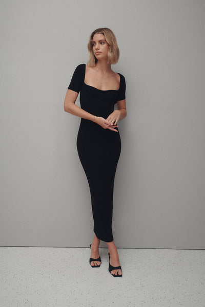 Aria Knit Dress - Black