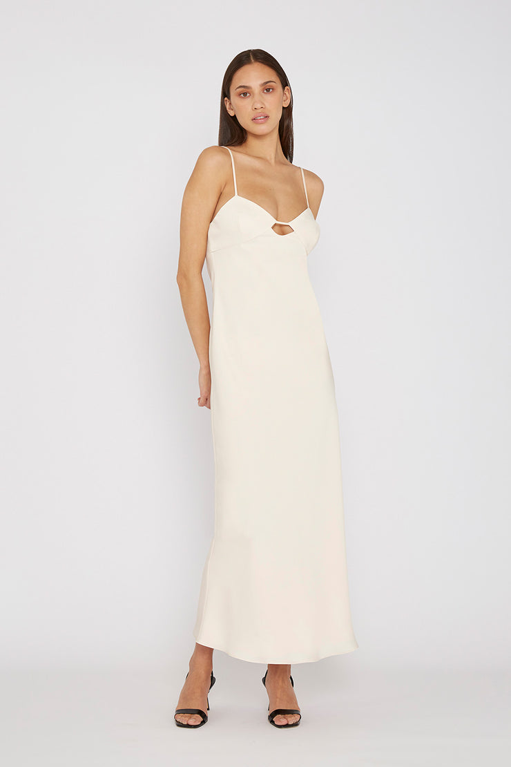 The Orchid Slip Dress - Creme