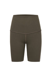 Rib Bike Shorts – Khaki