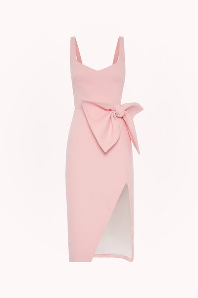 Betina Bow Split Midi Dress