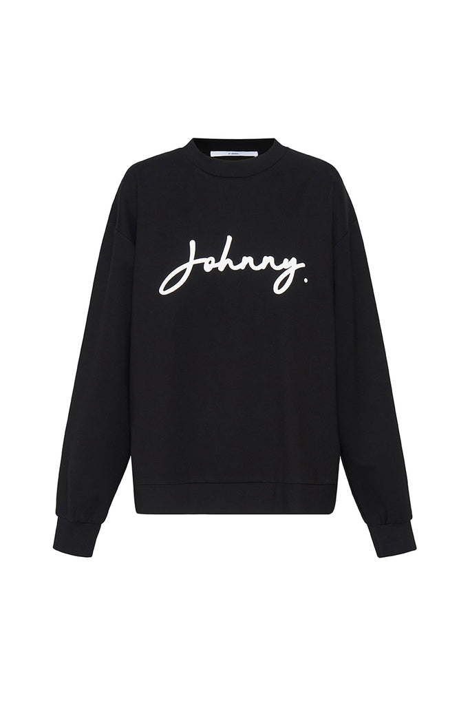 Unisex Signature Crew Sweat - Black White