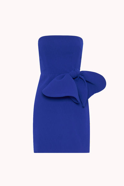 Bow Tie Mini Dress | Final Sale - Cobalt Blue