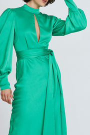 Camellia Midi Dress - Green