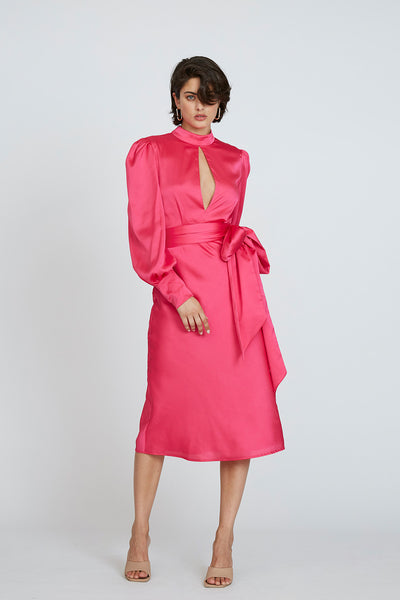 Camellia Midi Dress - Pink
