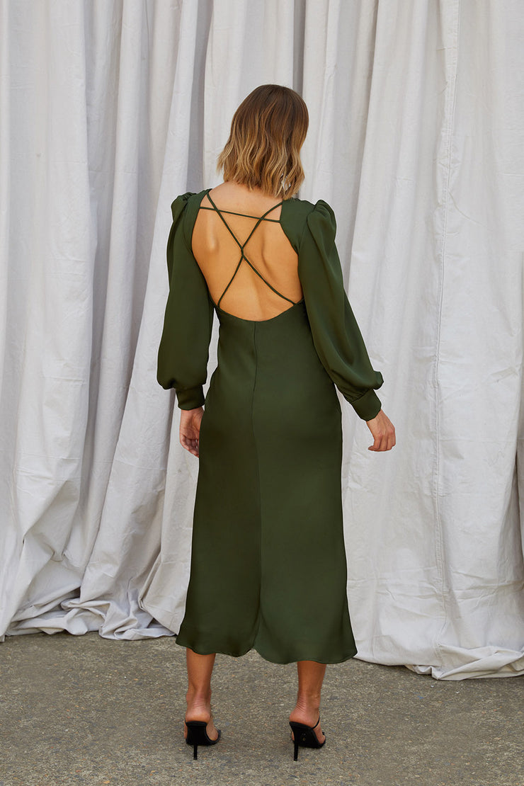 Chloe Cross Back Midi Dress
