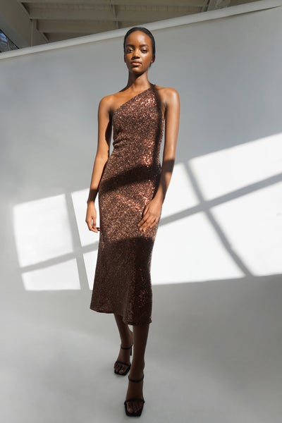Copper Girl Bias Dress