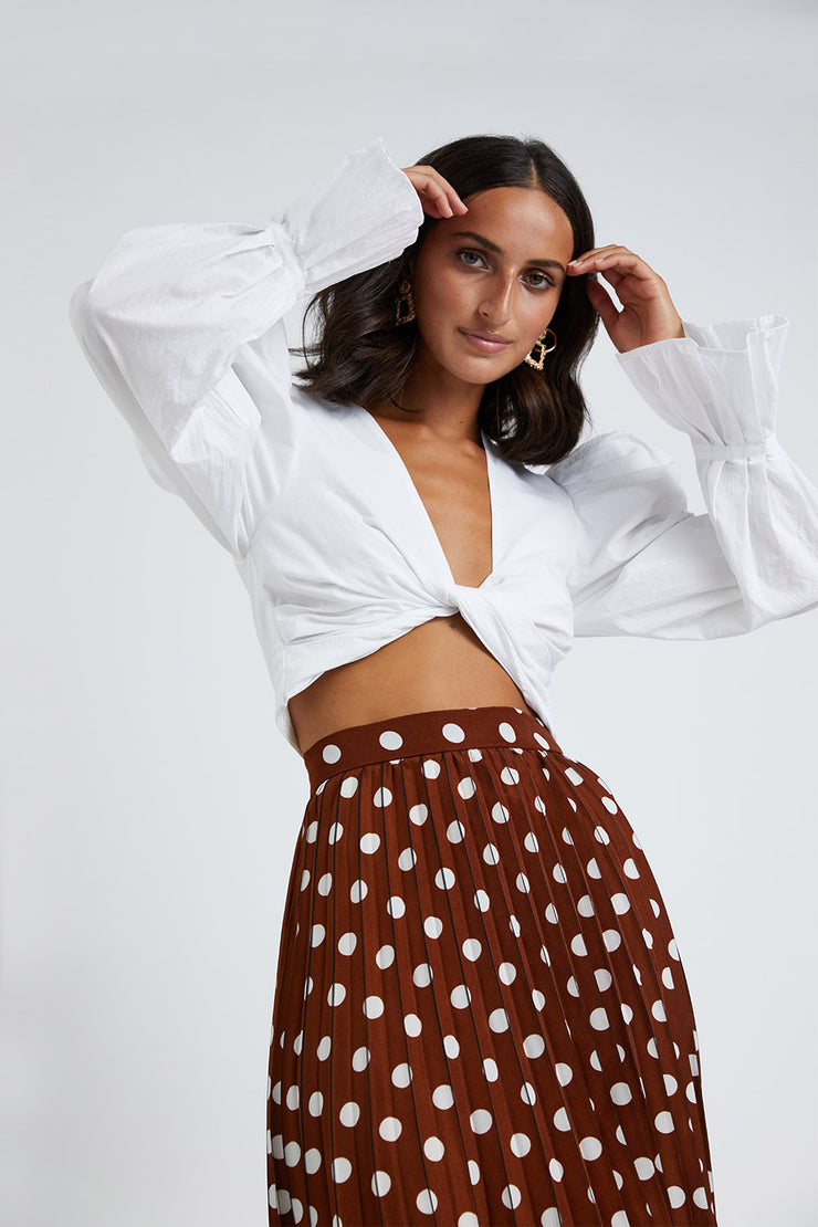 Cotton Twist Top - White