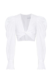 Cotton Twist Top | Final Sale - White