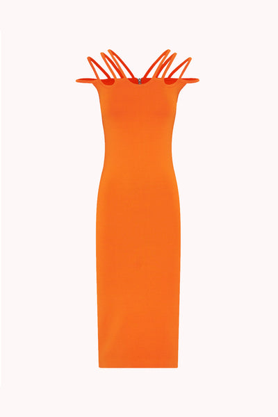 Ellie Cage Midi Dress | Final Sale - Burnt Orange
