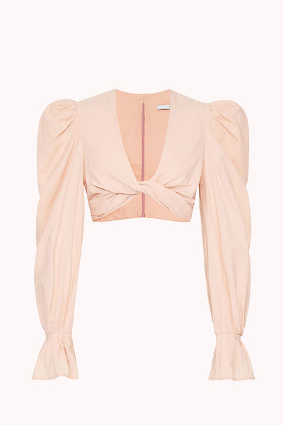 Cotton Twist Top | Final Sale - Peach