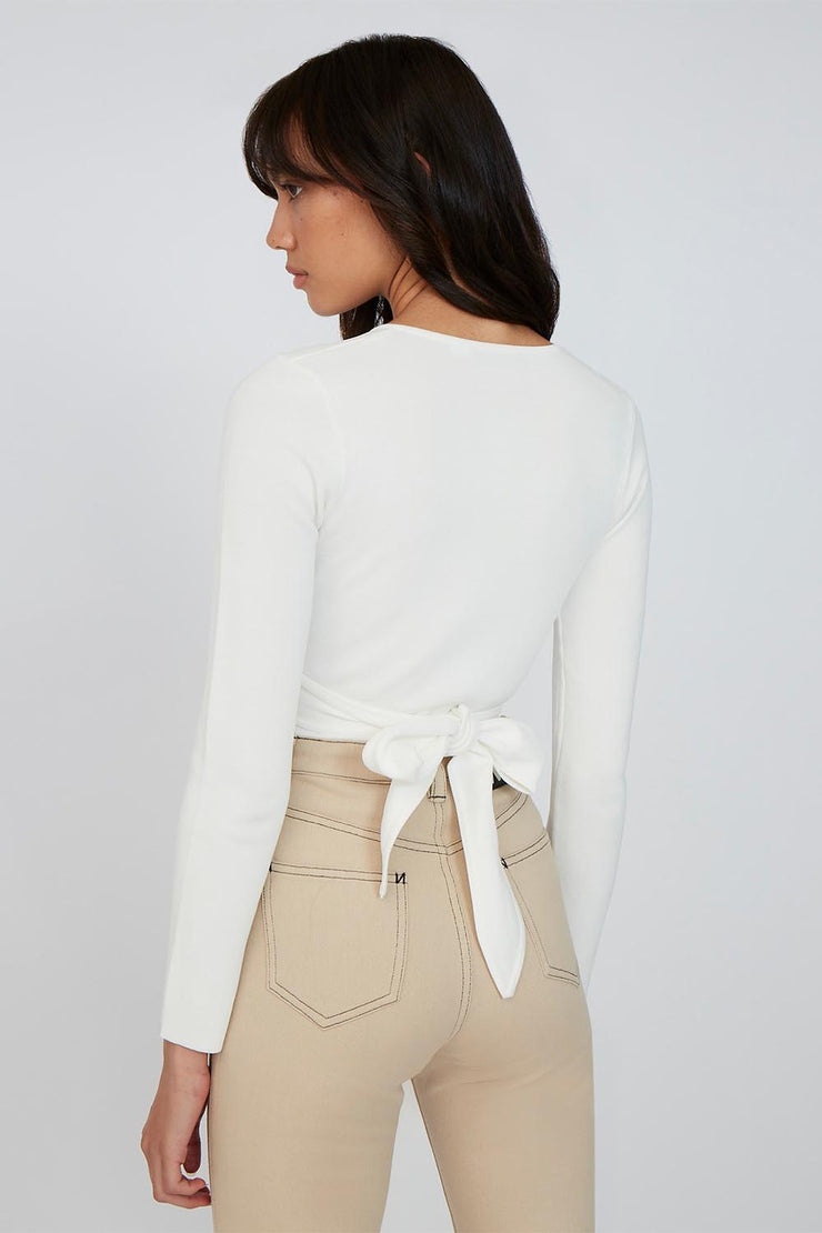 The Darby Cross Body Top - Ivory