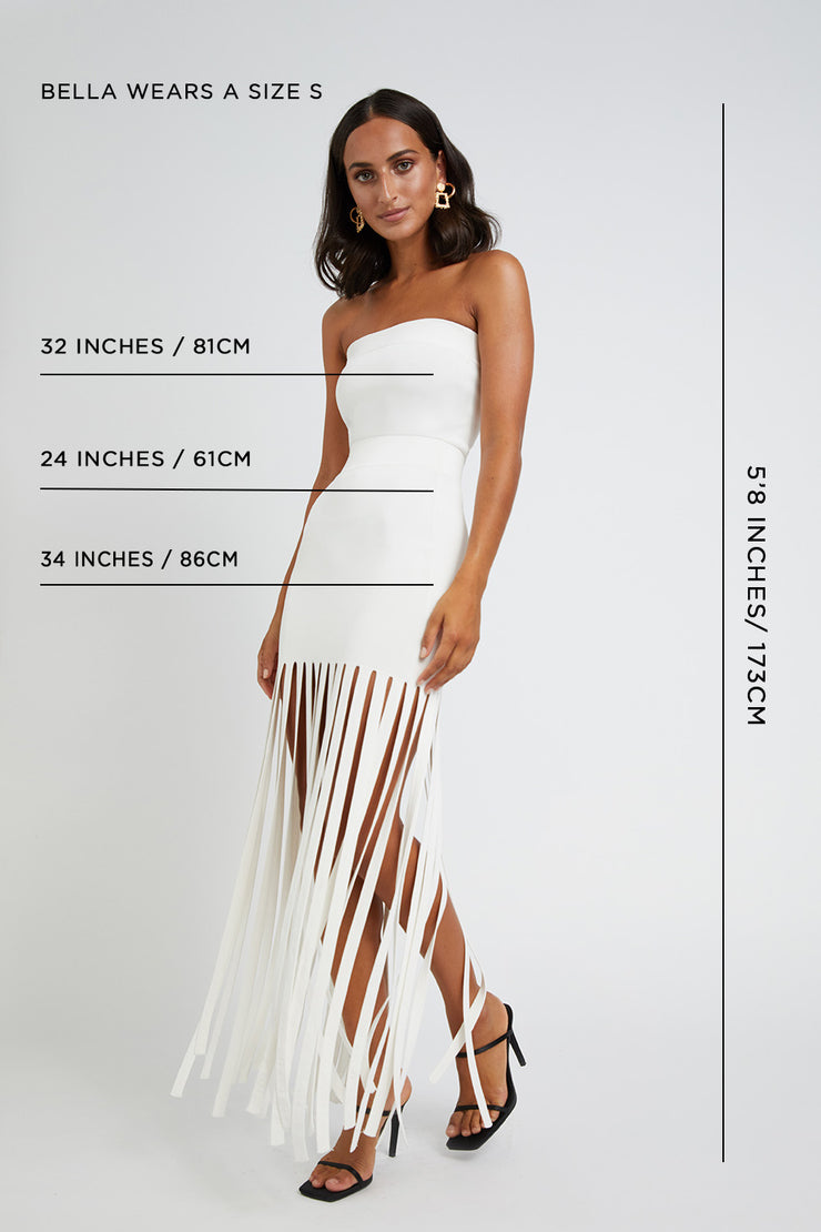 Freya Fringe Knit Dress