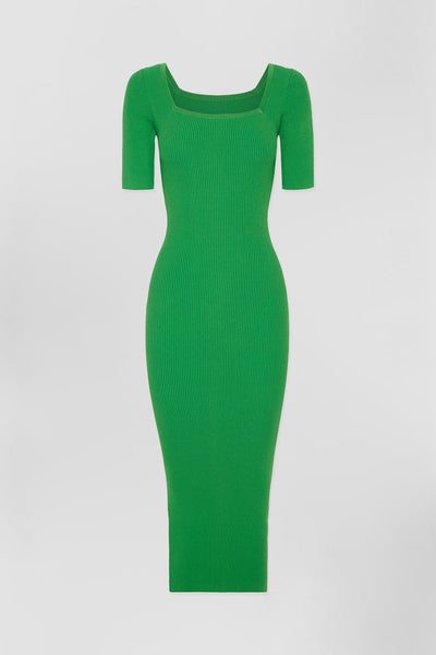 Frame Knit Dress - Green | Final Sale