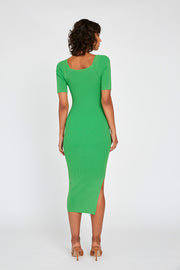 Frame Knit Dress - Green