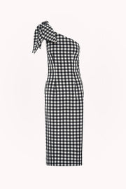 Georgie Gingham Tie Midi Dress | Final Sale