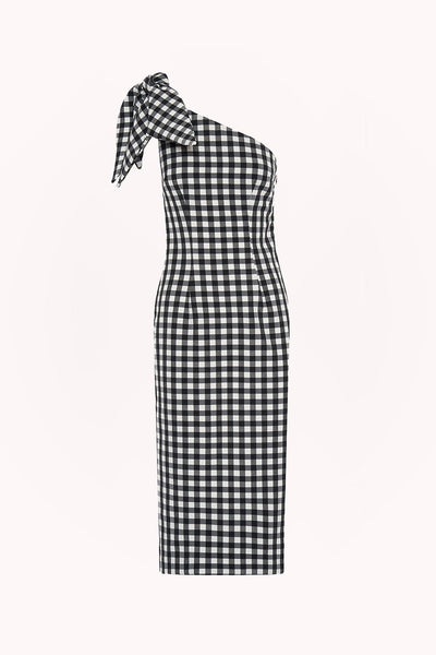 Georgie Gingham Tie Midi Dress