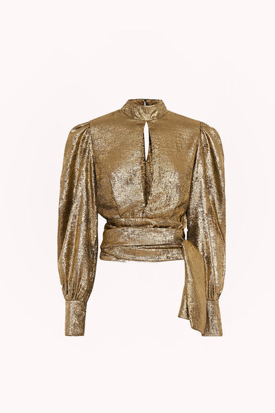 Gold Foil Cuffed Top | Final Sale