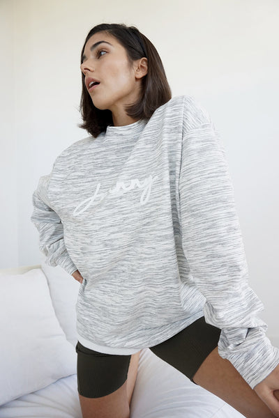 Unisex Signature Crew Sweat - Grey Marle