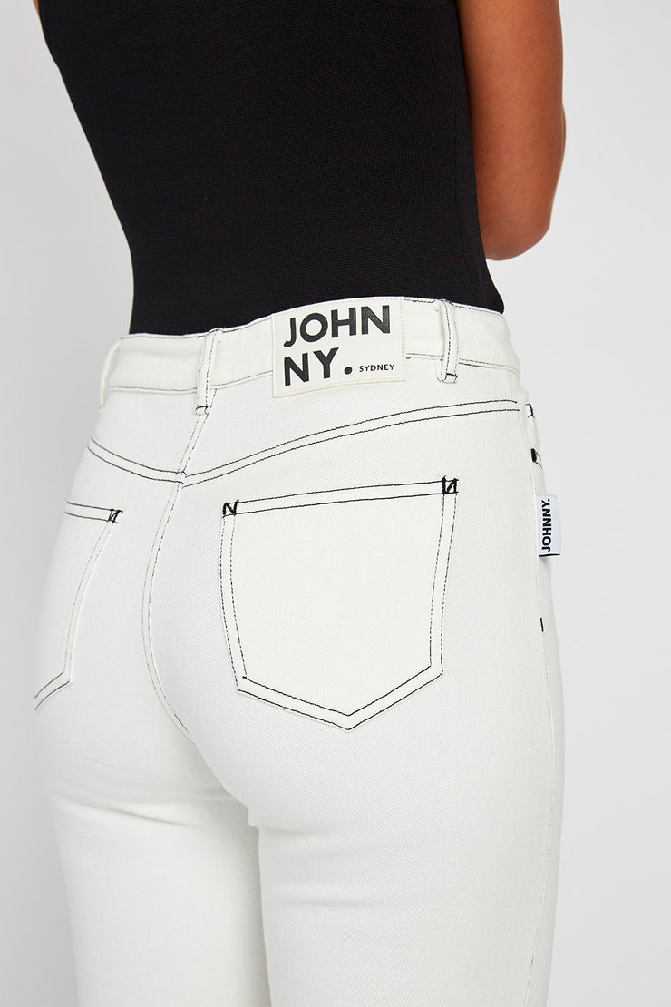 White Denim Johnny Jean