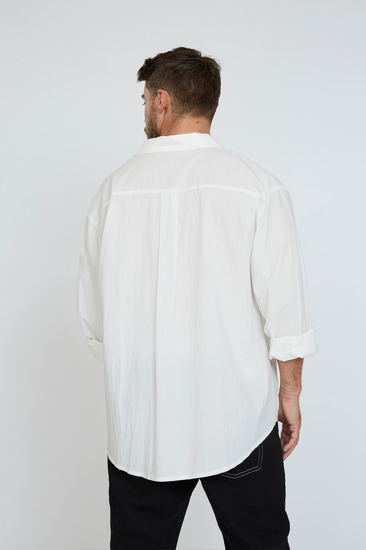 Liam Cotton Shirt - White