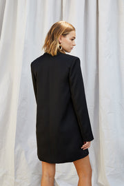 Loose Line Blazer Dress