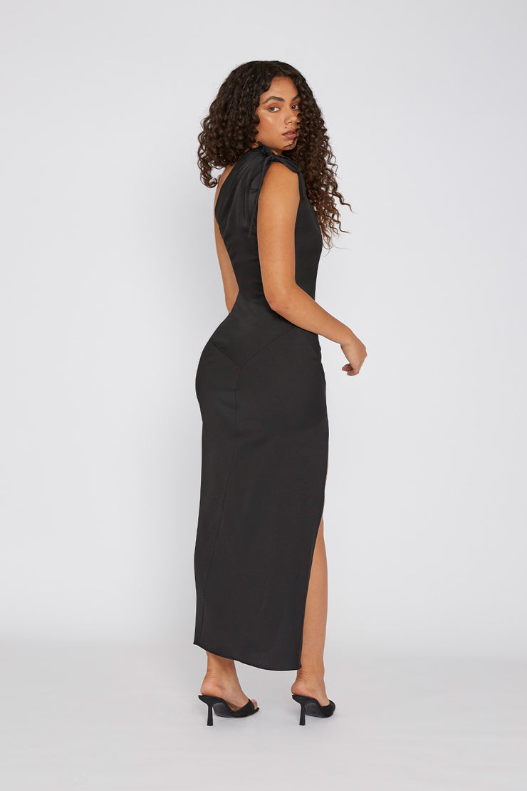 One Shoulder Jasmine - Black