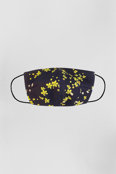 BYJNY MASK - Black Yellow Floral