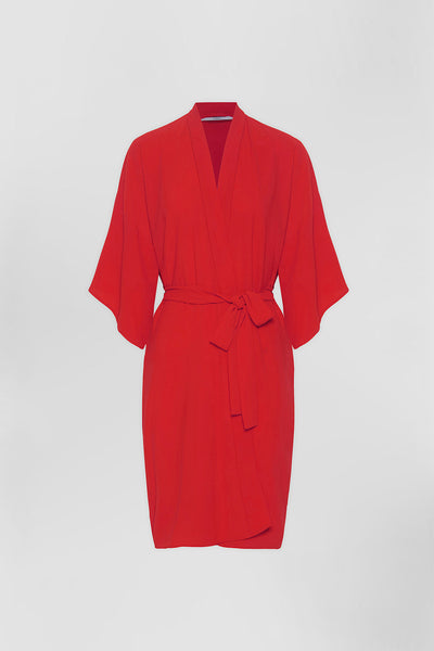Zero Waste Robe - Deep Red