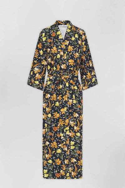 The Johnny Robe - Tumeric Floral | Final Sale