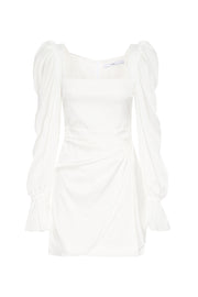 Snow Tuck Shoulder Mini Dress